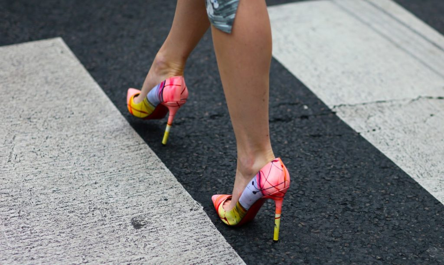 Туфли на шпильке и платформе